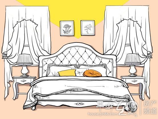 手绘床步骤图片